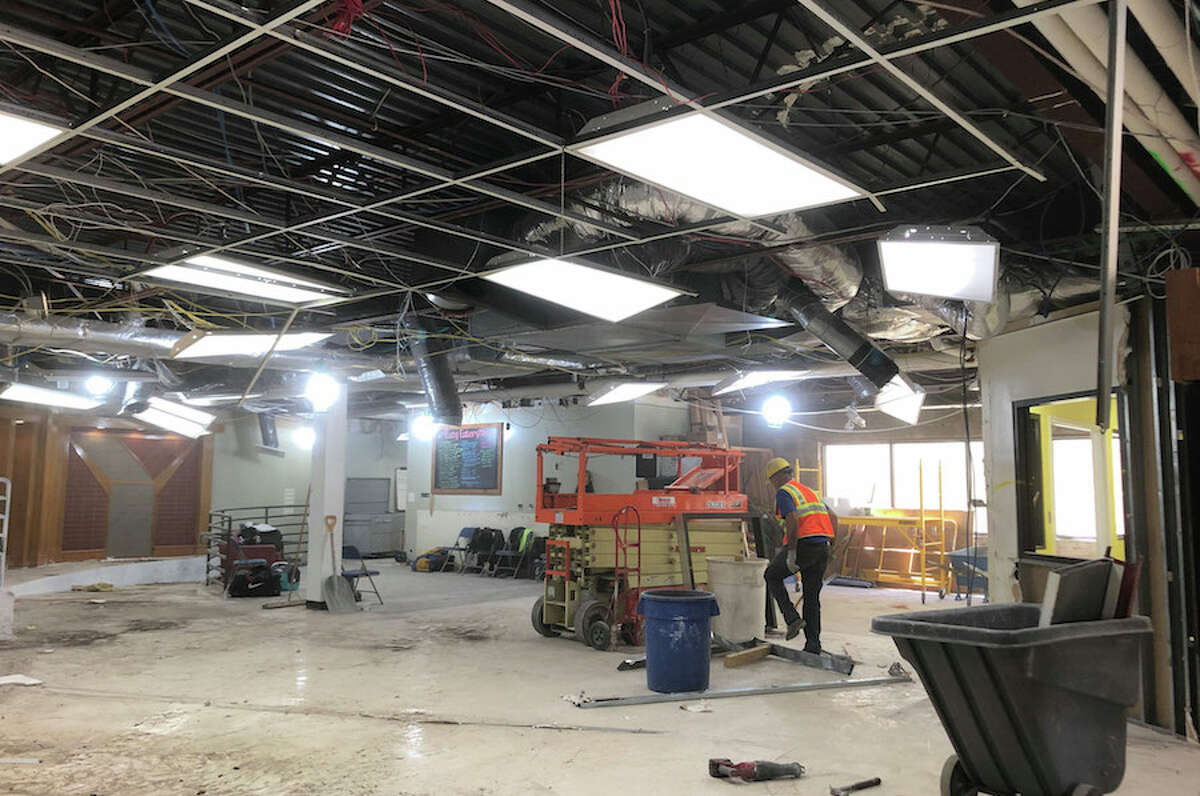 Construction last month at the Wilton YMCA to update and improve the facility. -WiltonYMCA photo