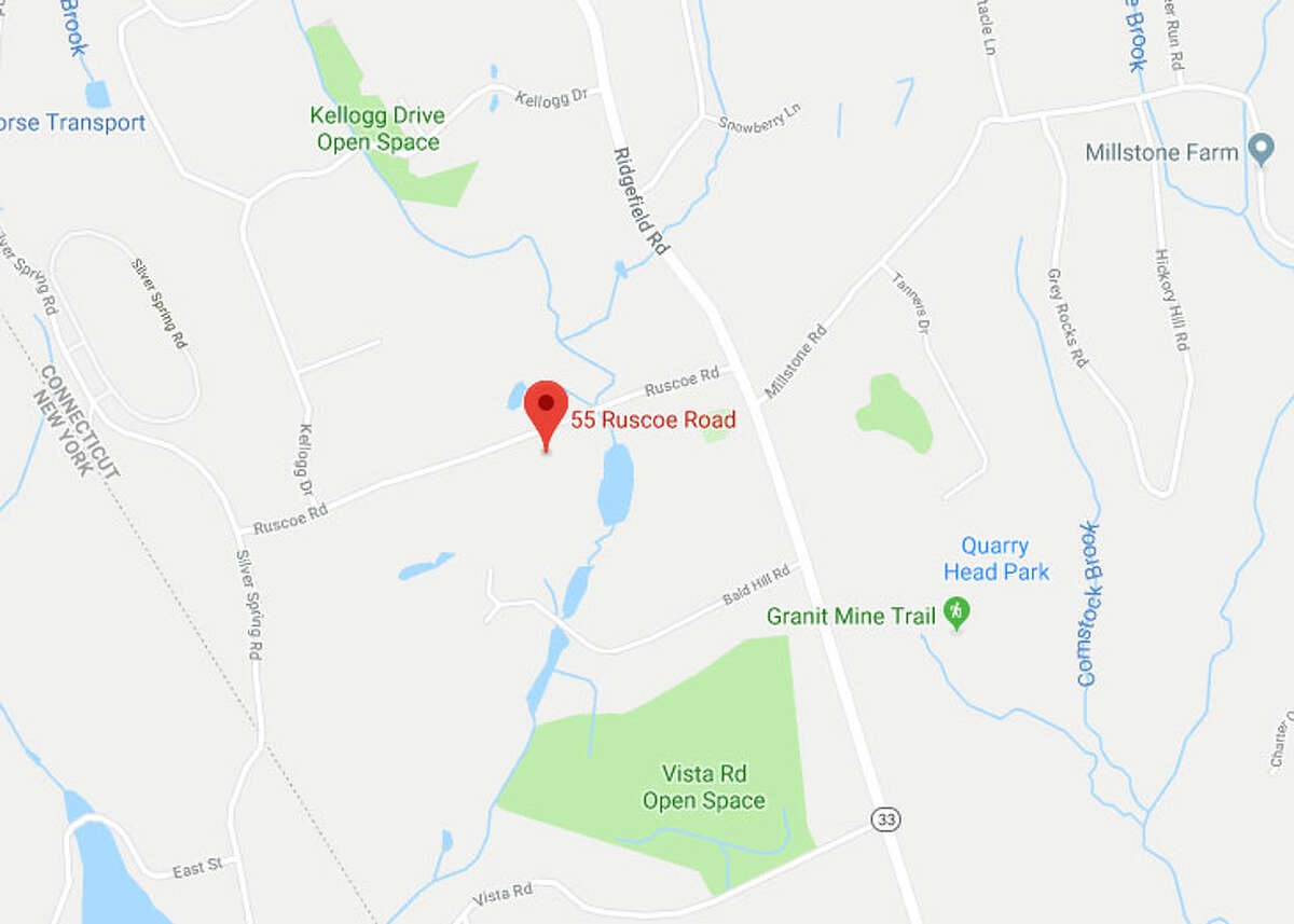Location in Wilton where a tree worker was electrocuted on Wednesday.