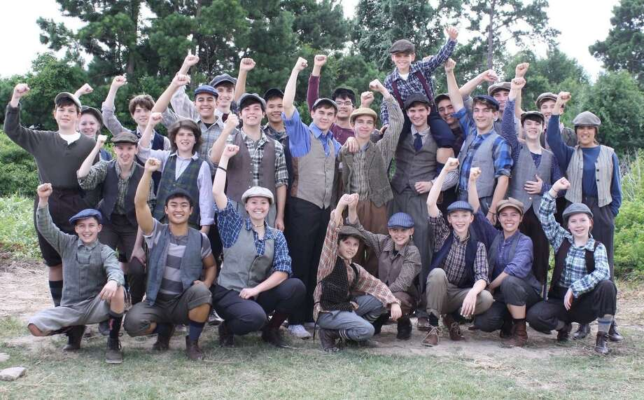 "Class Act, youth acting troupe based in The Woodlands, opens musical ""Newsies"" June 29 in Nancy Bock Auditorium on the McCullough Junior High School campus. The Broadway Tony winner based on a Disney film runs at selected times June 29 & 30, and next weekend July 6 & 7. Photo: Courtesy Photo"