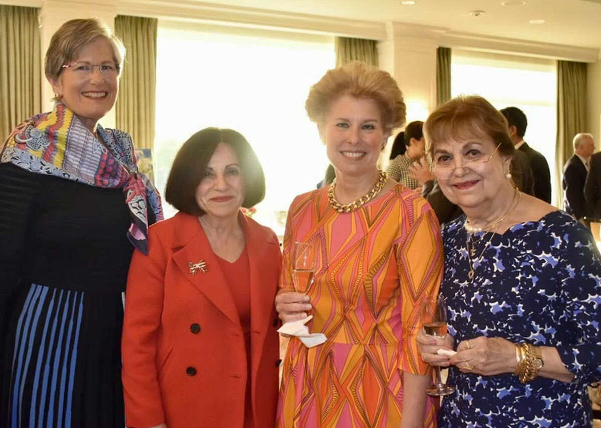 At theWiltonRepublican Town Committee'sLincolnDinner on May 18, 2019, honoree ToniBoucher, second left, is joined by Debbie Anderson, left, Carol Platt Liebau and Pat Longo.