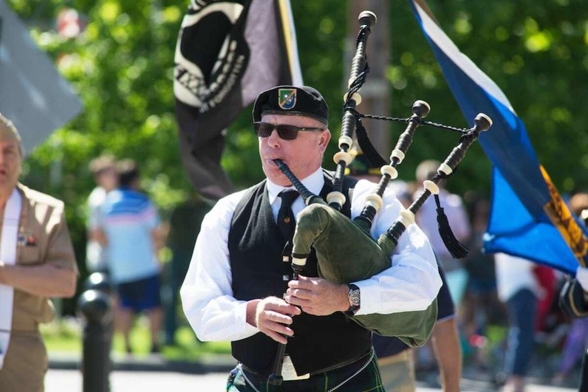 Drew Kennedy on the bagpipes. - Bryan Haeffele photo
