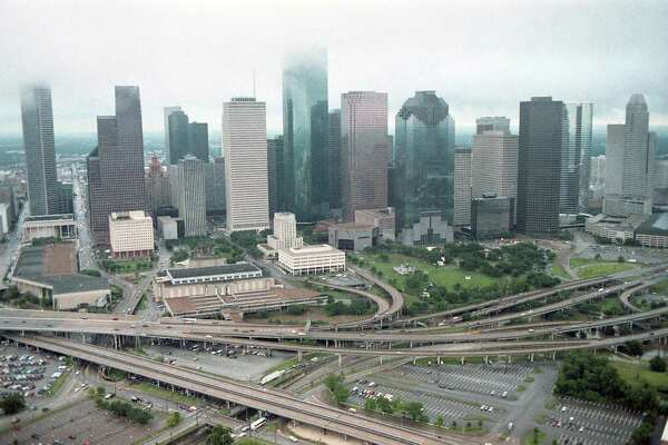Downtown Houston skyline, June 27, 1989.