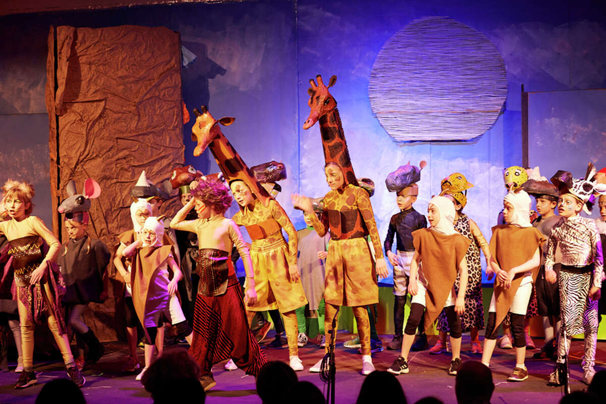 """Students at the Montessori School in Wilton performing """"I Just Can't Wait to be King."""" - contributed photo"""