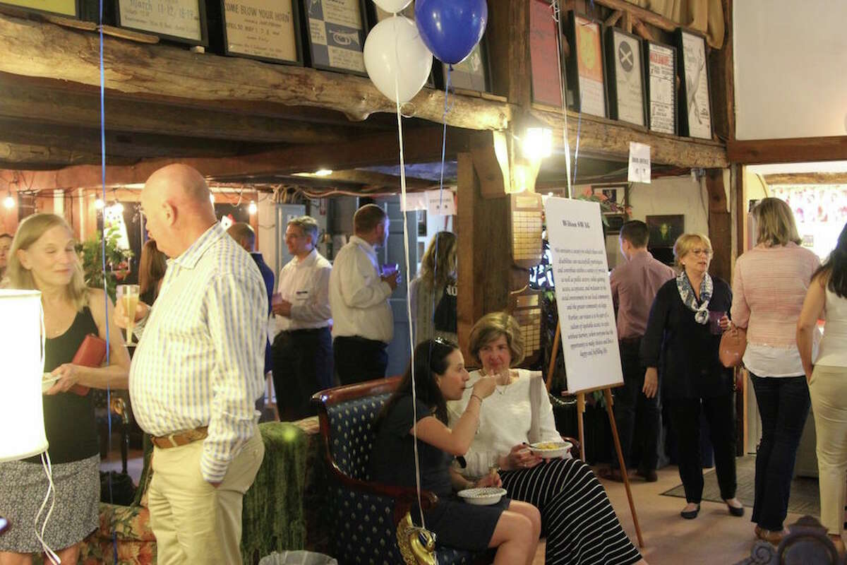 The SWAG launch party was at the Wilton Playshop. - Contributed photo