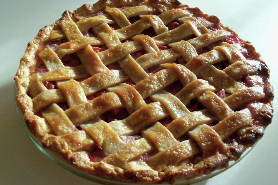 Pies and other home-baked desserts using rhubarb are eligible for entry into Cannon Grange's anniversary baking contest.