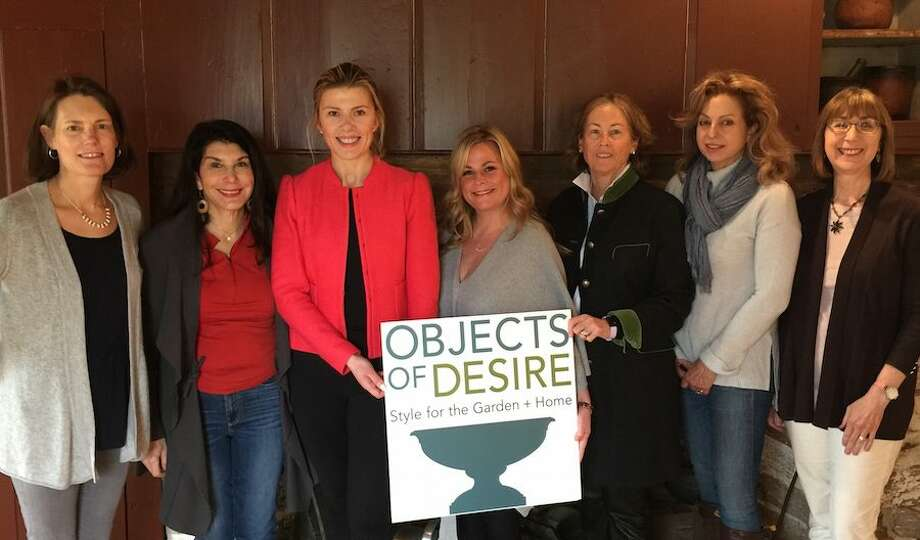 The Objects of Desire Preview Party Committee is getting ready for the May 31, event at the Wilton Historical Society. Members include, from left, Kim Mellin, Margaret Ogdon, Haiku Durden, Committee Chair Heather Bower, Janet Foster, Donna Harakas and Allison Sanders. Missing from photo is Katy Williams.