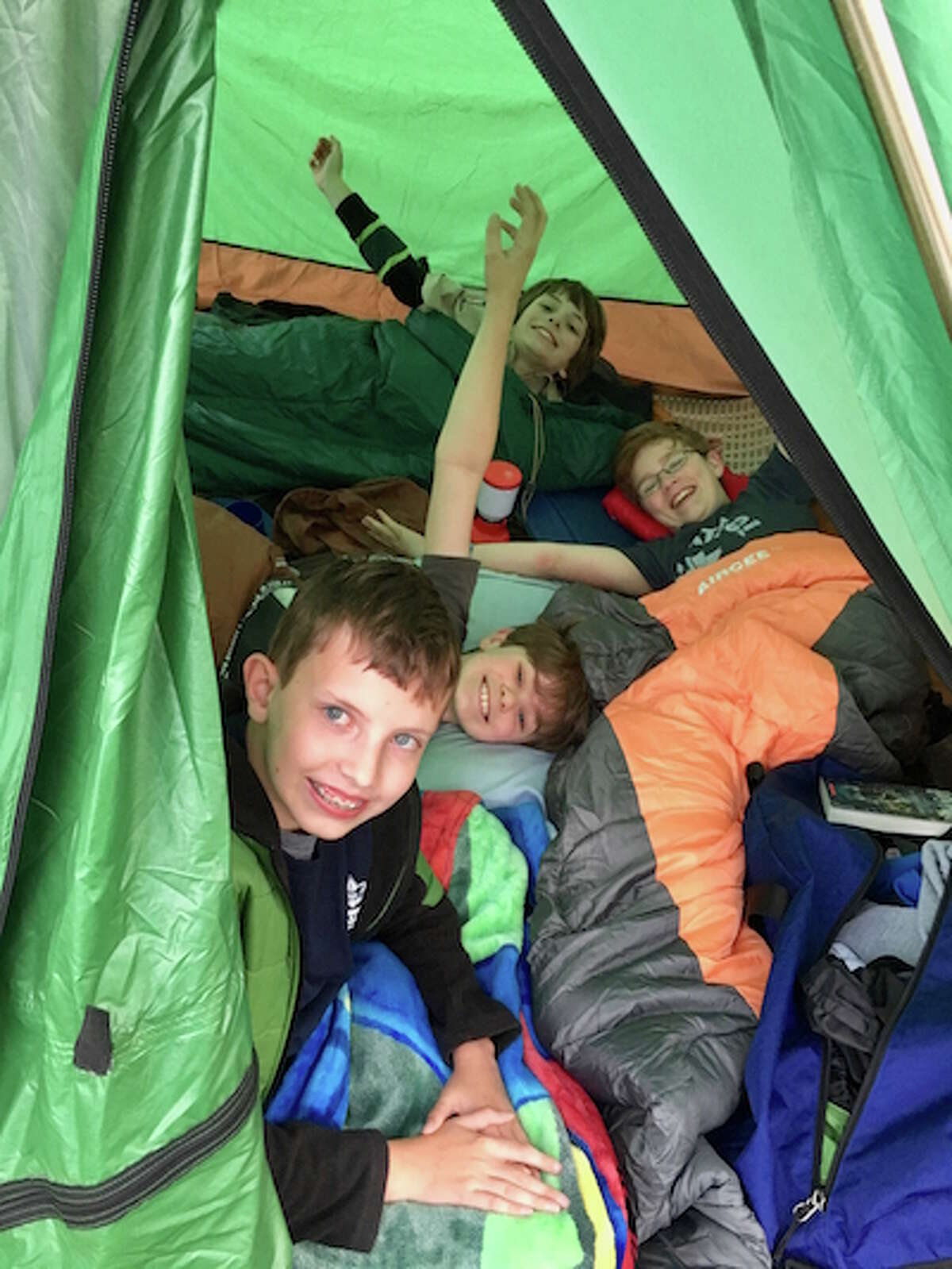 The campout is usually the first for new Boy Scouts.