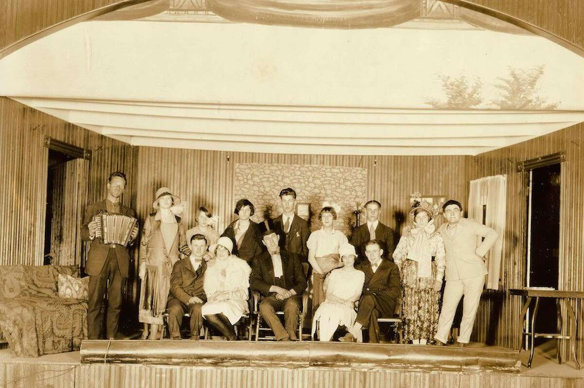 """The play """"Arrival of Miss Kitty"""" was performed on the stage at the Cannon Grange in 1927. Wilton Library photo"""