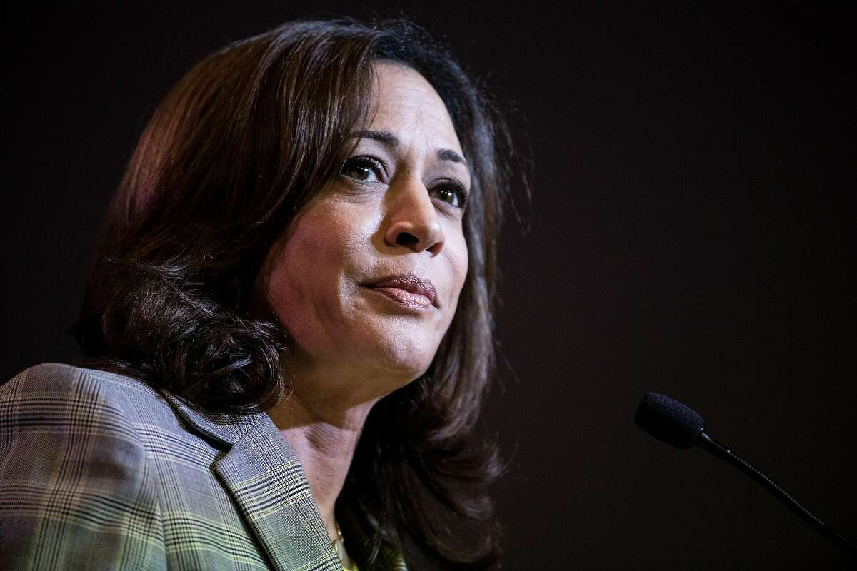 COLUMBIA, SC - JUNE 22: Democratic presidential candidate, Sen. Kamala Harris (D-CA) addresses the crowd at the 2019 South Carolina Democratic Party State Convention on June 22, 2019 in Columbia, South Carolina. Democratic presidential hopefuls are conver