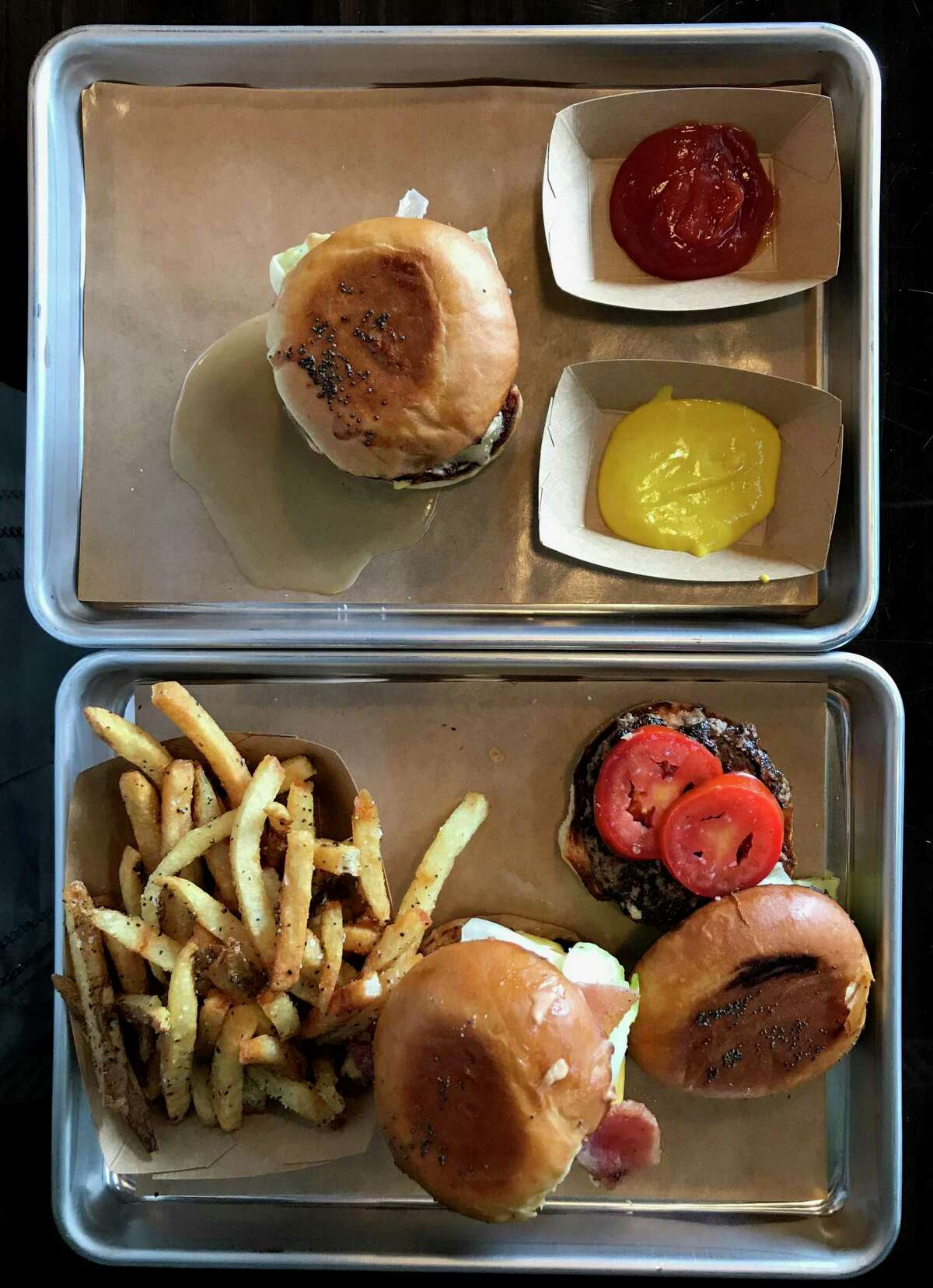A selection of burgers from Mr. Juicy