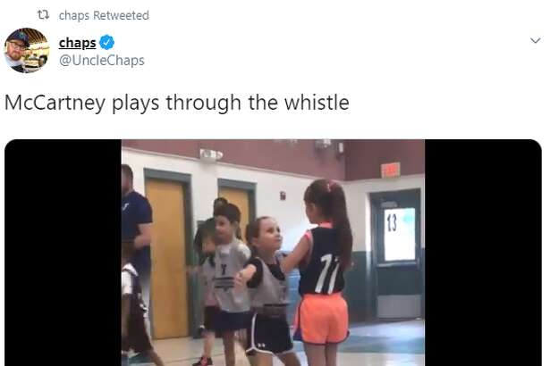 A video out of a local YMCA gym, showing a little girl's relentless defense that was at times compared to an MC Hammer shuffle, has reached the level of popularity that it has become a meme and topic of conversation for figures like Hall of Famer Scottie Pippen. Her name is McCartney and her dad, known as Chaps on Barstool Sports' Zero Blog 30 radio, told mySA.com the video was taken during her first basketball practice ever.
