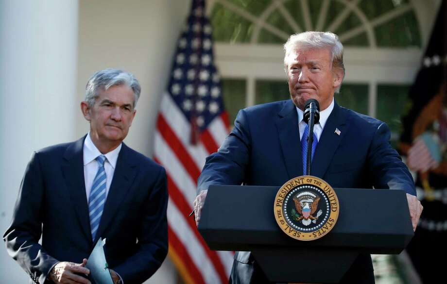 FILE - In this Nov. 2, 2017, file photo President Donald Trump announces Federal Reserve board member Jerome Powell as his nominee for the next chair of the Federal Reserve in the Rose Garden of the White House in Washington. Trump is keeping up his attacks on Federal Reserve Chairman Powell, saying he ?made? Powell but now would like to trade him in for Mario Draghi, the head of the European Central Bank. (AP Photo/Alex Brandon, File) Photo: Alex Brandon / Copyright 2017 The Associated Press. All rights reserved.