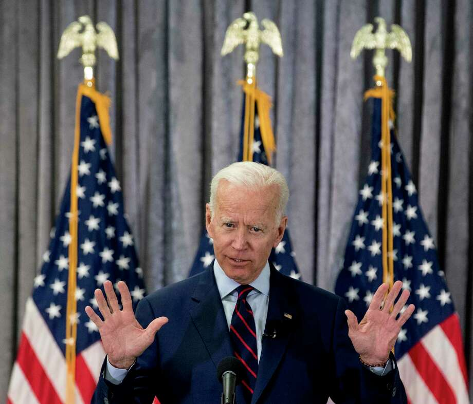 Former Vice President Joe Biden, a 2020 Democratic presidential hopeful, speaks during a town all meeting with a group of educators from the American Federation of Teachers on Tuesday, May 28, 2019, in Houston. Photo: Brett Coomer, Houston Chronicle / Staff Photographer / © 2019 Houston Chronicle