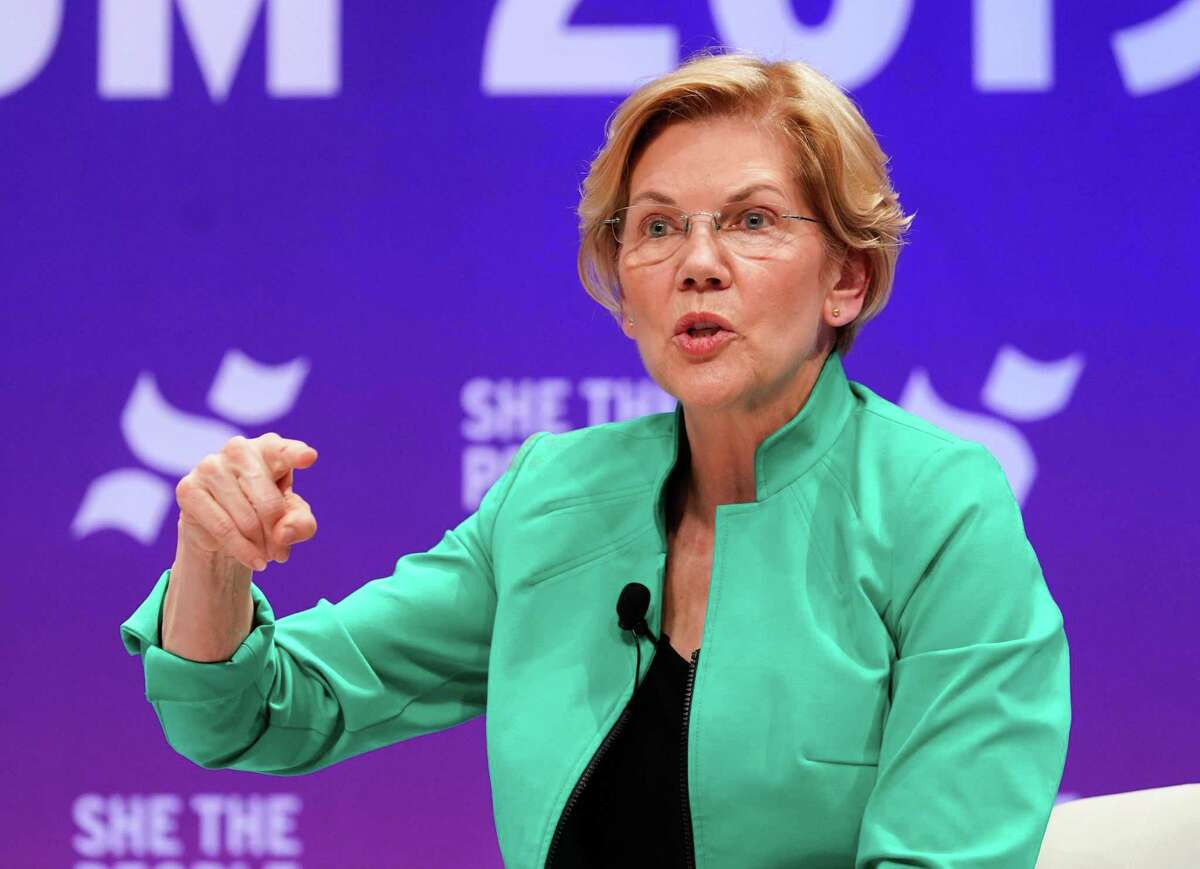 Senator Elizabeth Warren speaks at the presidential candidate forum sponsored by She the People at Texas Southern University Wednesday, April 25, 2019.