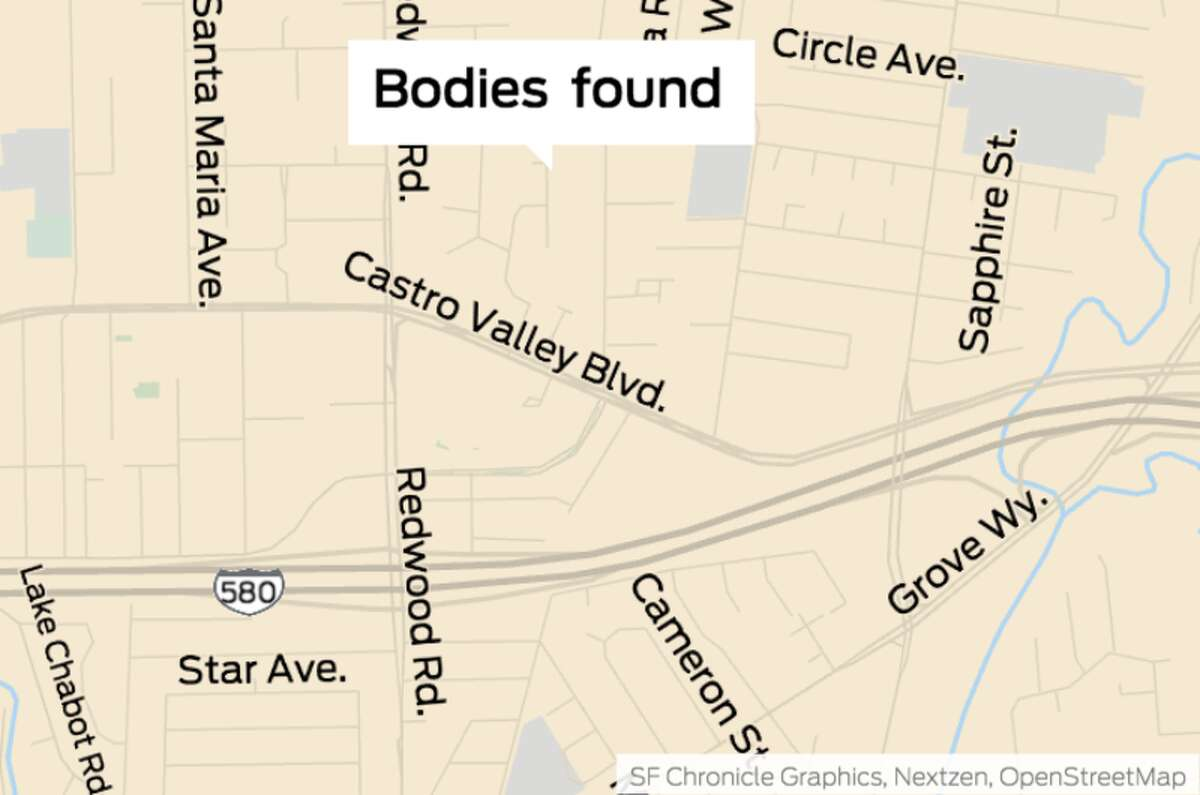 Police discovered two bodies, both of which had gunshot wounds, inside a guest house on the 20500 block of Forest Avenue in Castro Valley.