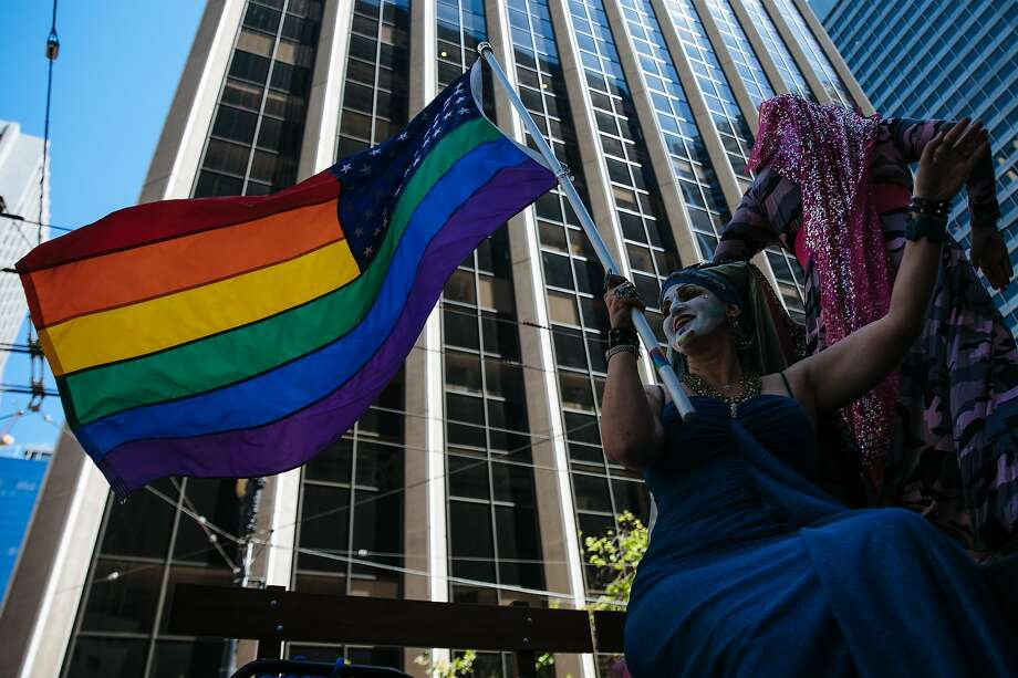 Thousands gather to watch the San Francisco Pride Parade in June 2018. Photo: Mason Trinca / Special To The Chronicle 2018