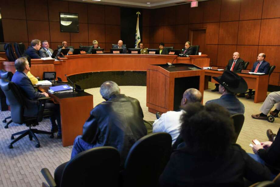 Beaumont's City Council speaks to a full chamber of residents who were lobbing for the former Melton YMCA building to be opened on nights and weekends for the community to gather.   Photo taken on Tuesday, 01/29/19.  Ryan Welch/The Enterprise Photo: Ryan Welch / The Enterprise / ©Ryan Welch