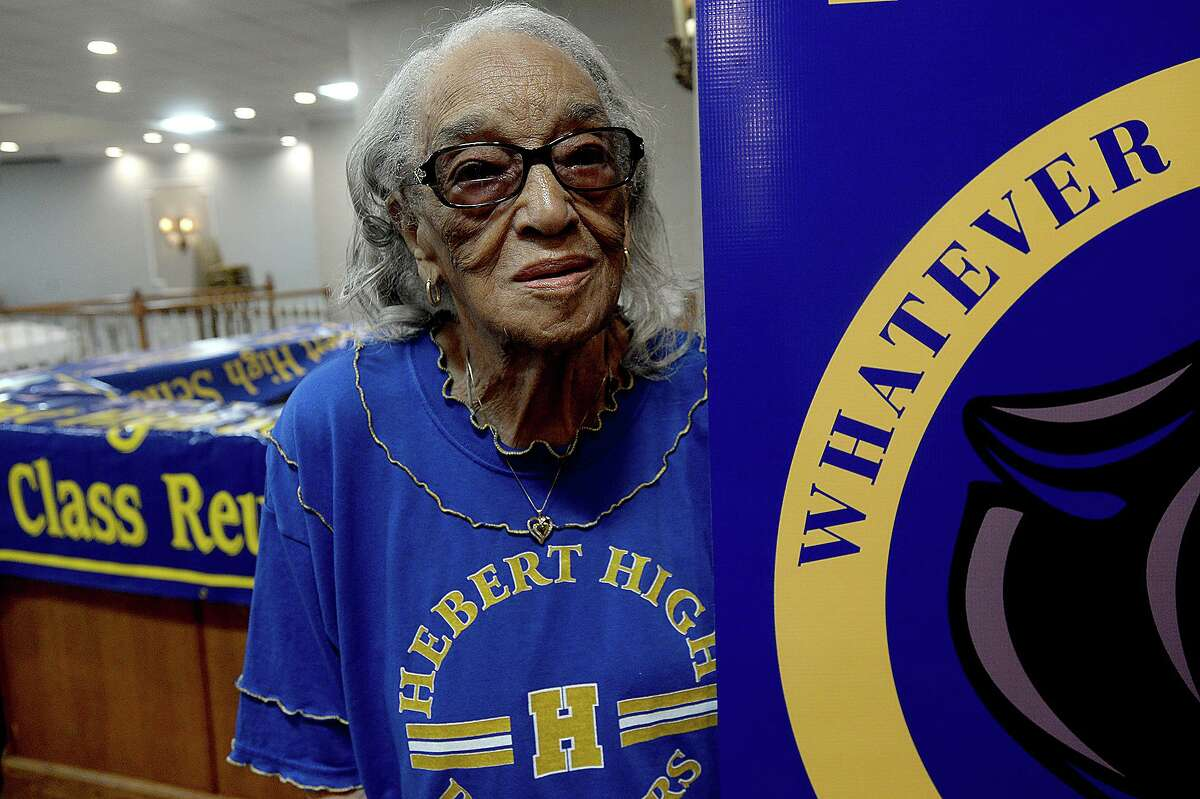 Dorothy Graze Williams at 101 will be the oldest alumni attending this year's Hebert High School Mass Reunion, which starts Friday and runs through the weekend. Photo taken Wednesday, June 26, 2019 Kim Brent/The Enterprise