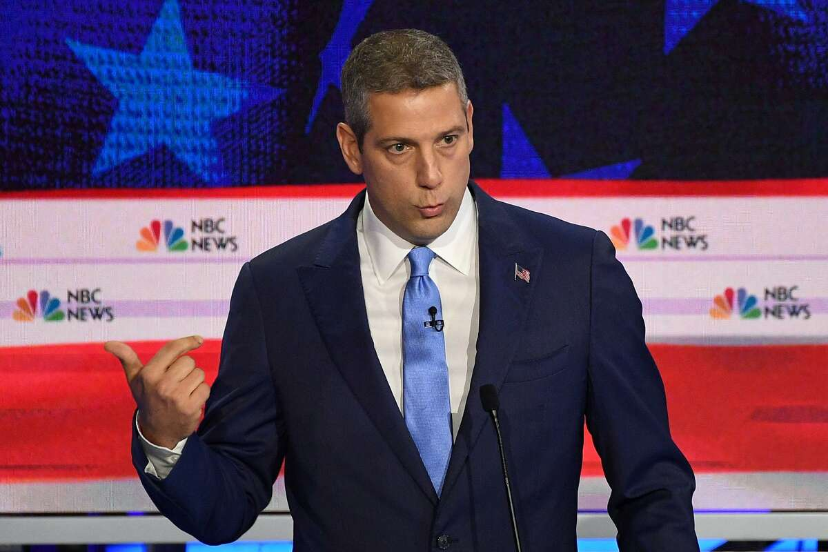 Democratic presidential hopeful US Representative for Ohio's 13th congressional district Tim Ryan speaks during the first Democratic primary debate of the 2020 presidential campaign season hosted by NBC News at the Adrienne Arsht Center for the Performing Arts in Miami, Florida, June 26, 2019. (Photo by JIM WATSON / AFP)JIM WATSON/AFP/Getty Images