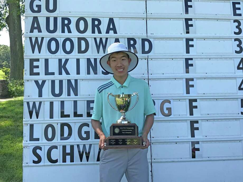Alexander Gu of Darien won the boys title at the Connecticut Junior PGA Championship at Yale Golf Course in New Haven on Wednesday, June 27, 2019. Photo: David Fierro / Hearst Connecticut Media / Connecticut Post