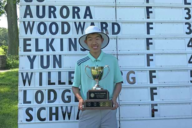 Alexander Gu of Darien won the boys title at the Connecticut Junior PGA Championship at Yale Golf Course in New Haven on Wednesday, June 27, 2019.