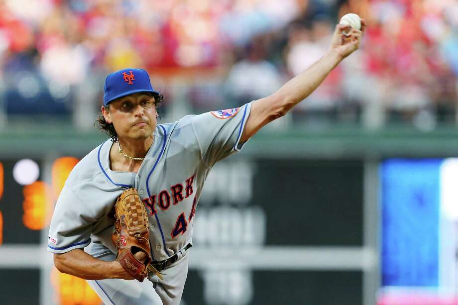 PHILADELPHIA, PA - JUNE 26: Pitcher Jason Vargas #44 of the New York Mets delivers a pitch against the Philadelphia Phillies during the first inning of a baseball game at Citizens Bank Park on June 26, 2019 in Philadelphia, Pennsylvania. (Photo by Rich Schultz/Getty Images) Photo: Rich Schultz / 2019 Getty Images