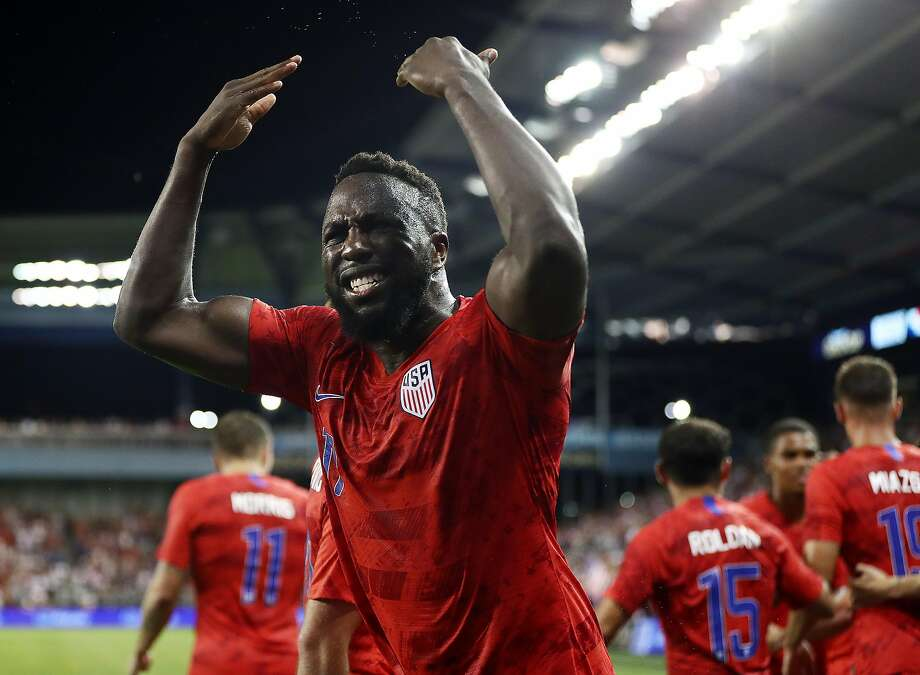Jozy Altidore celebrates after scoring in the second half. Photo: Jamie Squire / Getty Images