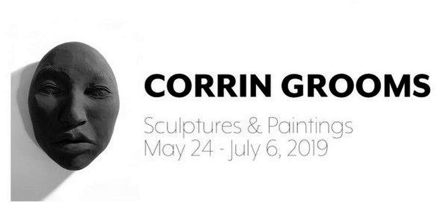 Corrin Grooms: Sculptures & Paintings showcases both abstract paintings and realistic sculptures in her first solo exhibition. The exhibit is on display at Saginaw Art Museum through July 6. (photo provided)