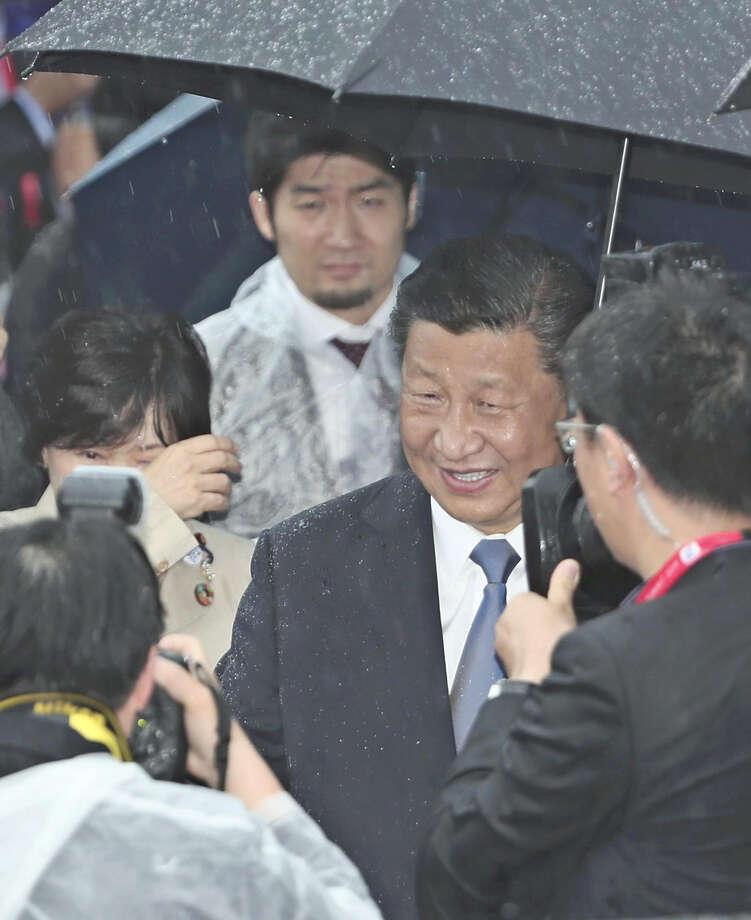 China President Xi Jinping arrives at Kansai International Airport in Osaka, Japan, on Thursday. Photo: Japan News-Yomiuri / Japan News-Yomiuri