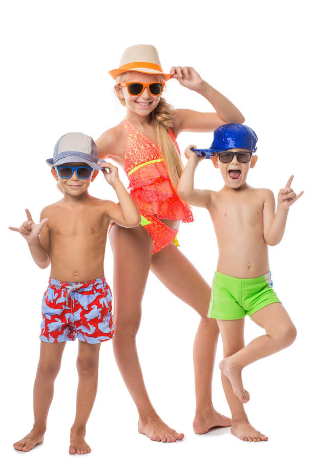 This summer, kids have more swimwear choices than ever, not only in colors, but also in styles. Photo: Shutterstock