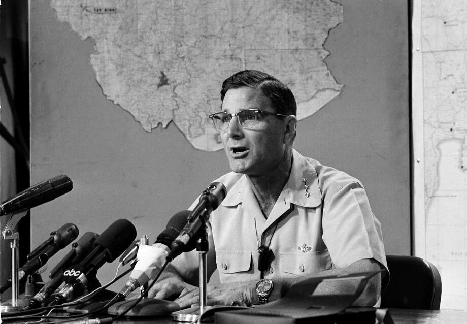 "Gen. William M. Momyer, shown here in 1967, took a dim view of ""Pardo's Push"" and wanted to see Pardo court-martialed. He relented on condition that Pardo not receive a medal for bravery. Photo: AP Photo"