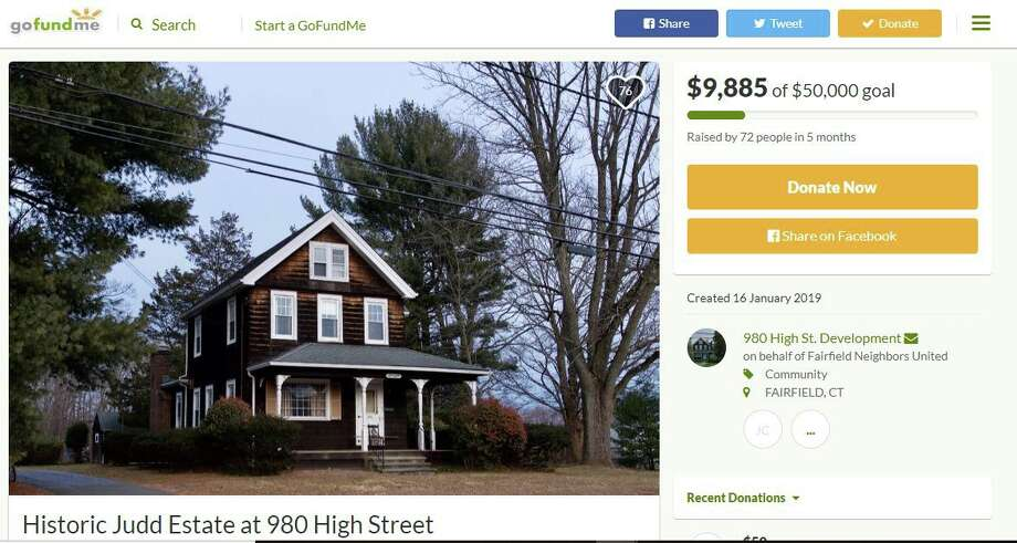 A GoFundMe has been set up to raise funds to fight a proposed affordable housing complex on High Street. Photo: Humberto J. Rocha / Hearst Connecticut Media / New Canaan News