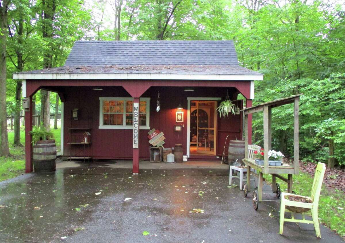 All-Wright Acres Farm Store is a small charming building at the farm's entrance.