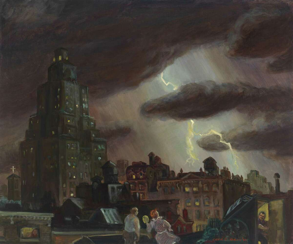 Cecil Bell, Summer Electric Storm, 1938, oil on canvas. Museum of the City of New York