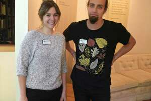 Lauren Bennett, Wigwam Escape Program Coordinator, and Griffin Kalin, Creative Director, of the Wigwam Escape Room at the Institute for American Indian Studies in Washington, Conn. June 12, 2019.