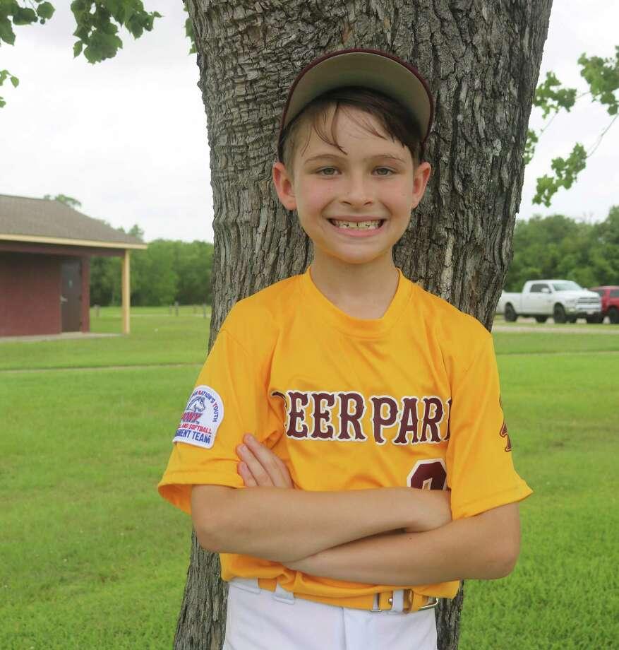 Deer Park Mustang 11-year-old All-Star Brett Hutto Photo: Robert Avery