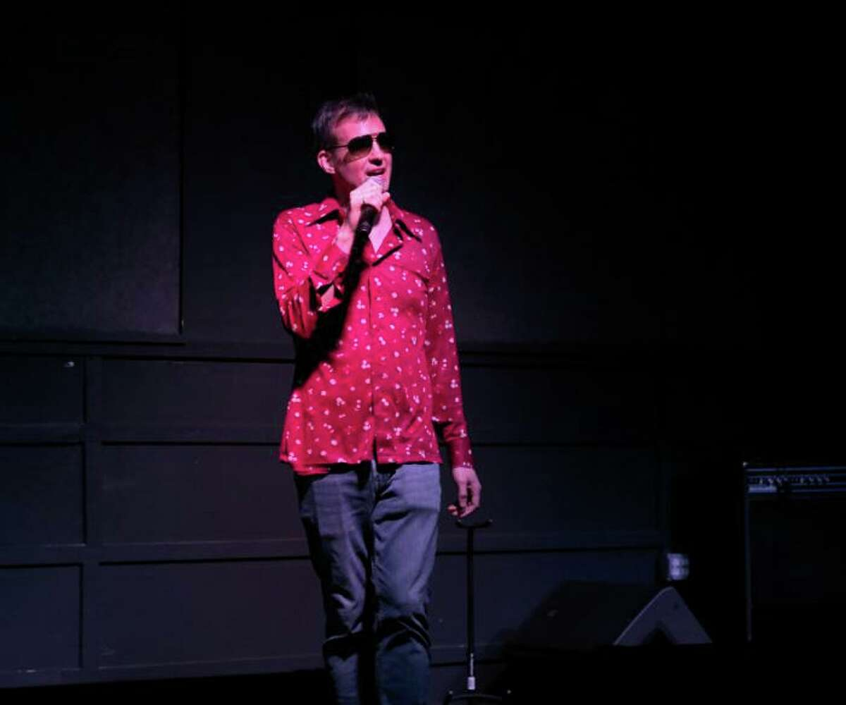 Aug Stone performing as Young Southpaw at the first Bat Soup comedy night May 21, 2019.
