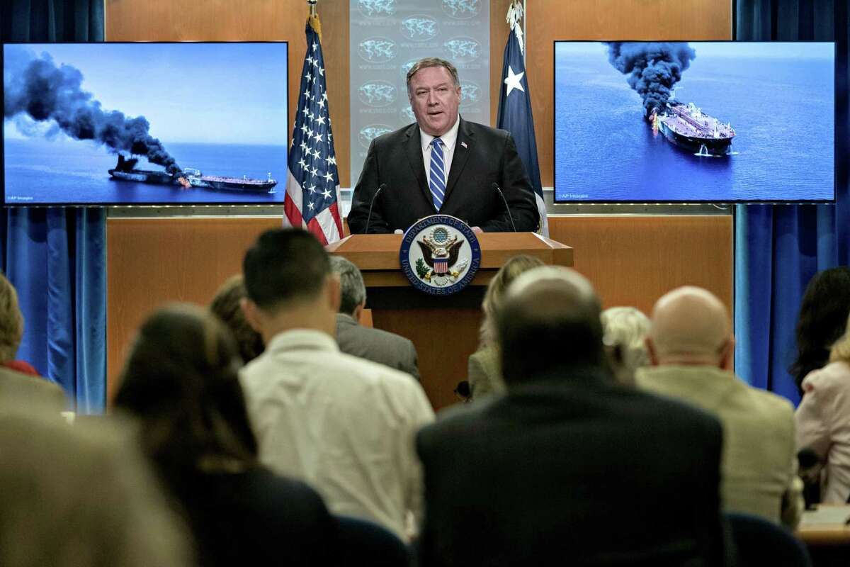 U.S. Secretary of State Mike Pompeo takes questions about escalating tensions with Iran - tensions U.S. policies have exacerbated.