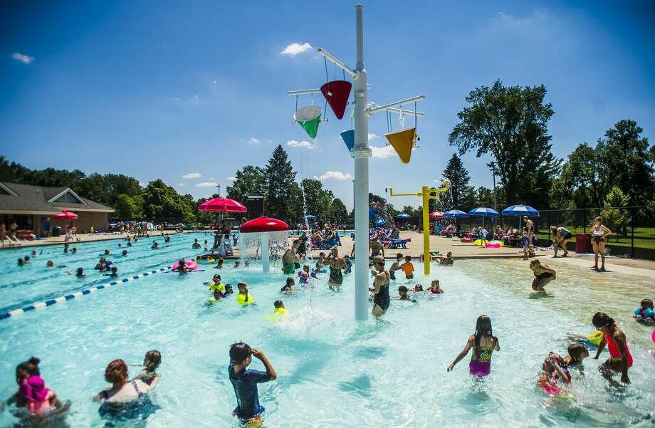 FILE — Kids swim in the Plymouth Park Pool on June 27, 2019 in Midland . (Katy Kildee/kkildee@mdn.net) Photo: (Katy Kildee/kkildee@mdn.net)