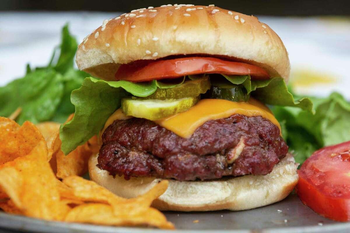 Blue Cheese-Stuffed Smoked Burger