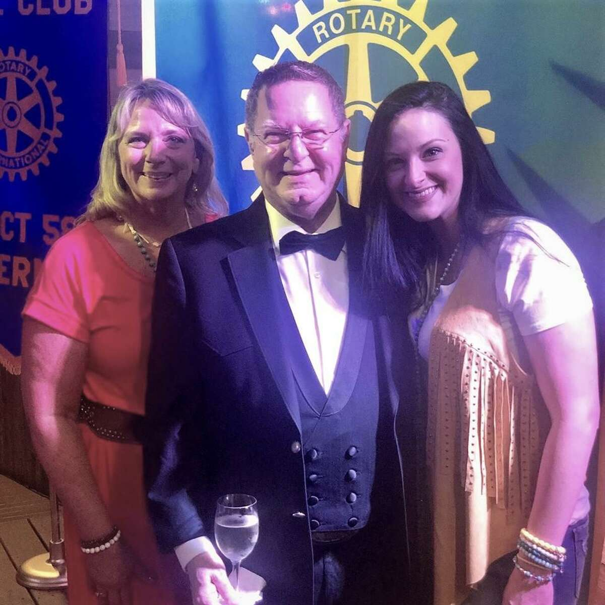 Gary Gillen with wife Janice and daughter Jen. Gary Gillen was installed June 13 as the 2019-20 Governor of District 5890 of Rotary International.