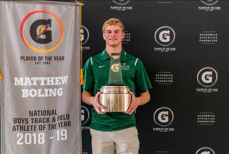 Strake Jesuit's Matthew Boling was named the Gatorade National Boys Track and Field Player of the Year Award.