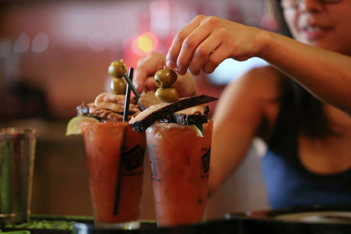 The signature Brisket Bloody Marys at The Pigpen bar will be featured at the new Smoke Shack location inside the San Antonio International Airport.
