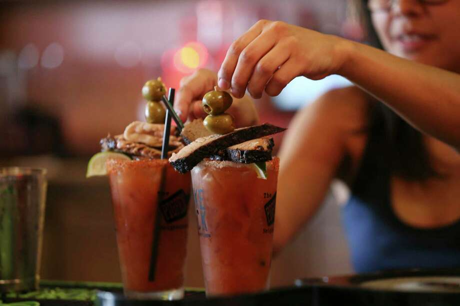 The signature Brisket Bloody Marys at The Pigpen bar will be featured at the new Smoke Shack location inside the San Antonio International Airport. Photo: Jerry Lara /Staff Photographer / © 2019 San Antonio Express-News