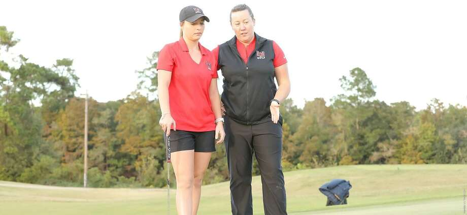 Jessica Steward (right) has resigned as head coach of Lamar's women's golf program and accepted the same job at Georgia State. Photo: Photo Provided By Lamar Athletics.