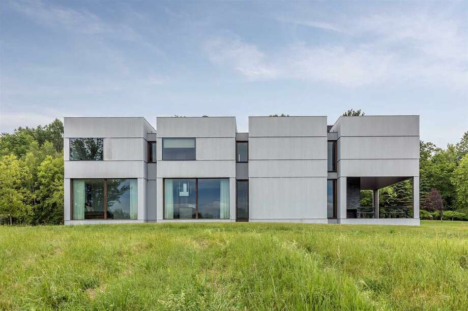 Photos of the Ai Weiwei-designed house in Ancram. View listing Photo: Realtor.com