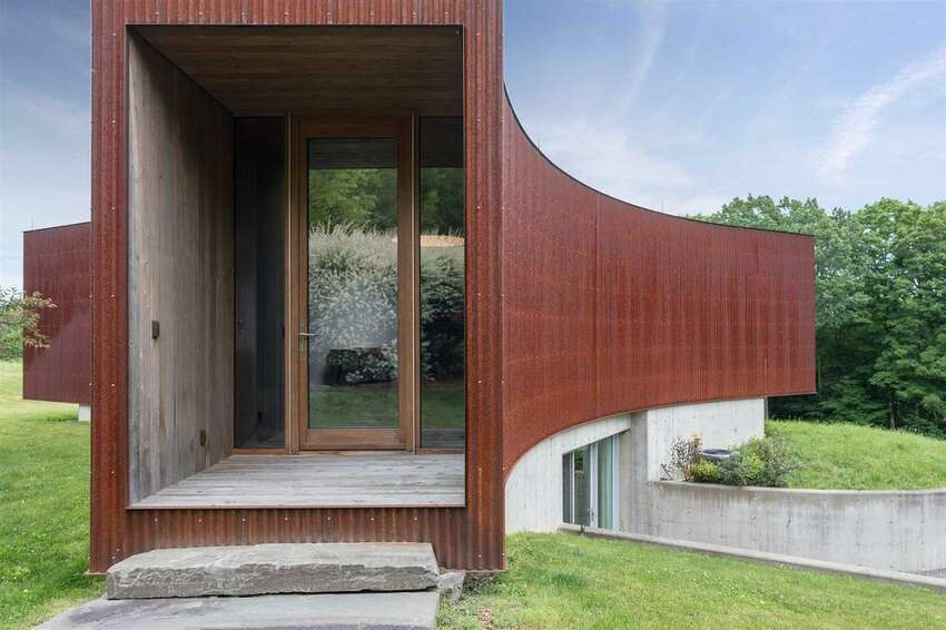 Photos of the Ai Weiwei-designed house in Ancram. View listing