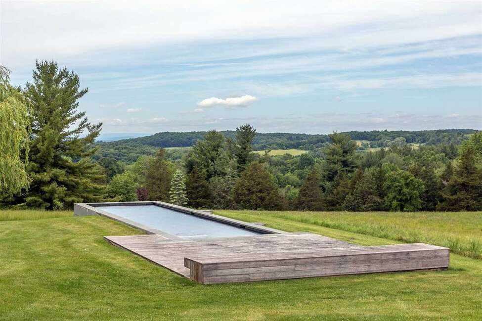 Photos of the Ai Weiwei-designed house in Ancram. View listing Rectangular pool