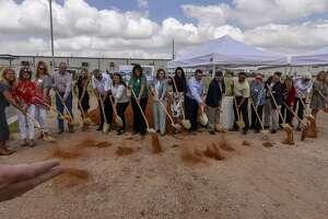 The West Texas Food Bank broke ground on the XTO Energy Educational Gardens on Thursday, June 27, 2019 at the West Texas Food Bank Volunteer and Education Center.  Jacy Lewis/Reporter-Telegram
