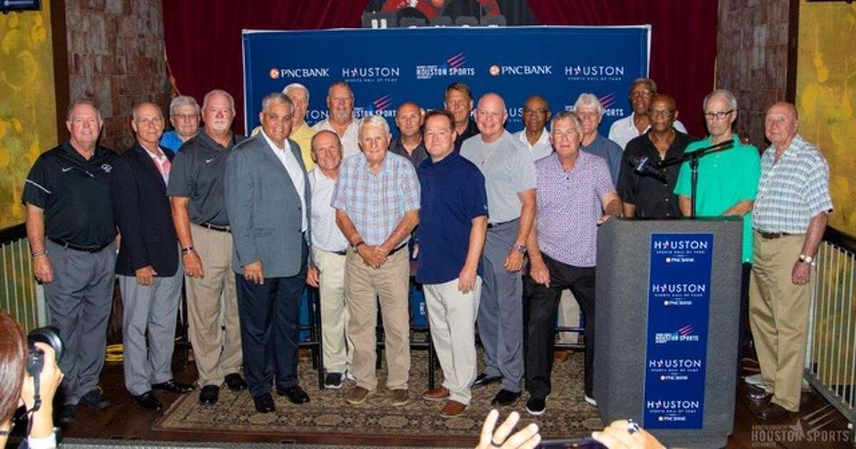 Twenty of the Greater Houston Football Coaches Association's Hall of Honor members were on hand Tuesday to help launch the second phase of the Houston Sports Hall of Fame.